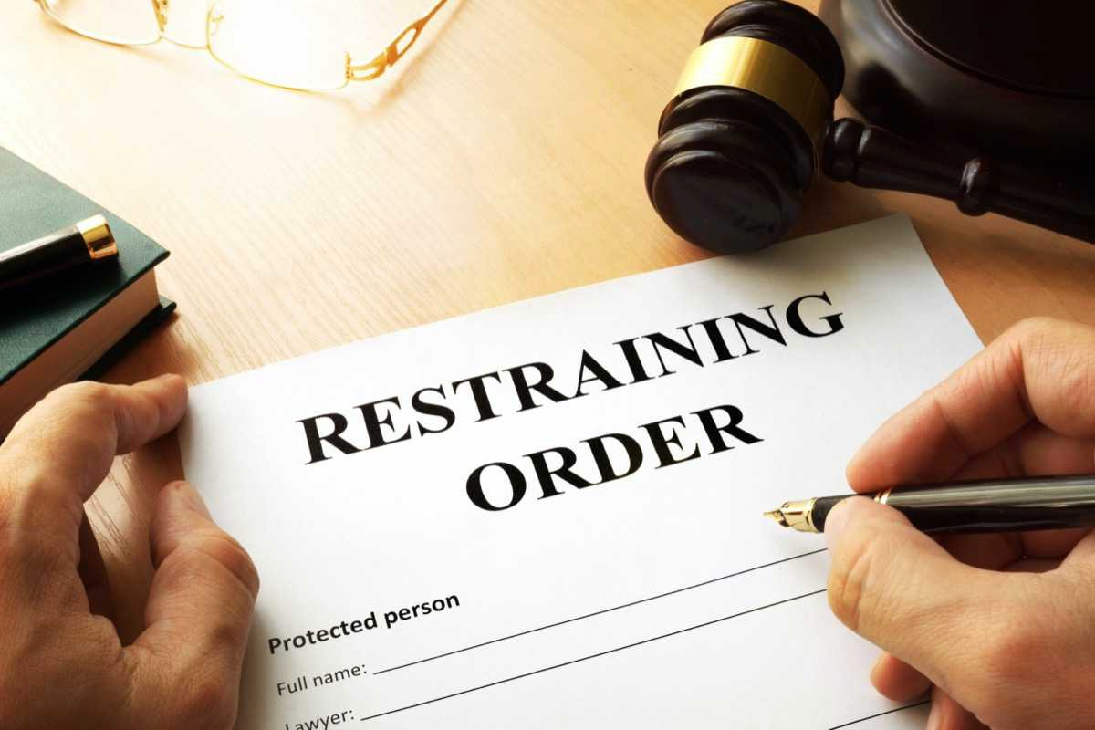 fight a restraining order while filing for fivorce